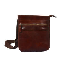 Flavio Brown Leather Satchel