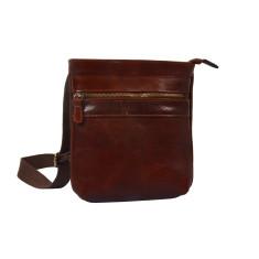 Flavio Brown Leather Satchel