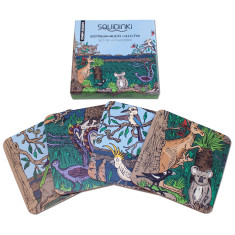 Set of 4 Coasters: Australian Wildlife