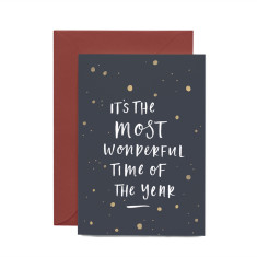 It's the most wonderful time of the year Christmas greeting card