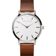 Barbas & Zacari Acorn Brown Leather Watch - Unisex
