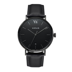 Versa 40 Watch In Black with Black Band