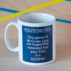 Personalised Father is a Legend Mug