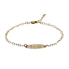 Personalised 18ct gold filled oval bracelet