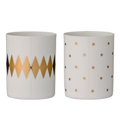 Porcelain votives (set of 2)