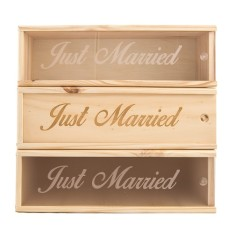 Just Married Wine Box