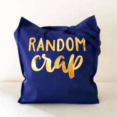 Random crap gold foil tote bag