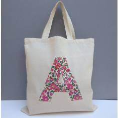 Liberty Print Applique Personalised Tote Bag