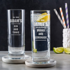 Engraved Highball Glass - Personalised Gin Glass