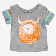 Monster grey toddler t-shirt