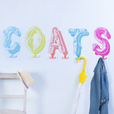 Coat Wall Stickers with Hooks