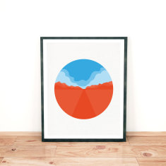 Desert drive limited edition giclee print