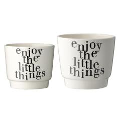 Ceramic Flowerpots (set of 2)