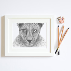 Cheetah illustration print