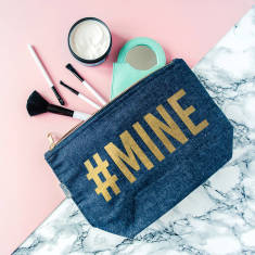 Mine Gold And Denim Makeup Case