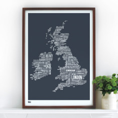 Bold & Noble Britain & Ireland type map