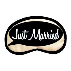 Just Married sleep mask