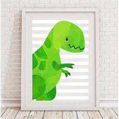 Blue or Green Dinosaur Print