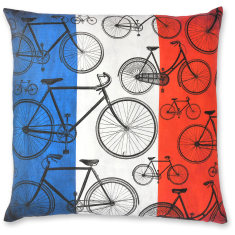 French Bikes 02 linen cushion cover