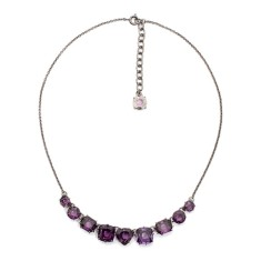 Nine stones necklace - Amethyst Diamantine