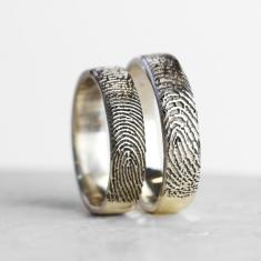 Your fingerprint personalised ring