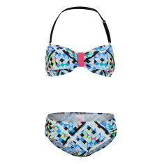 Girls' UPF 50+ Illusion Bandeau Bikini