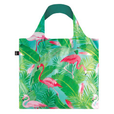 LOQI shopping bag wild collection flamingos
