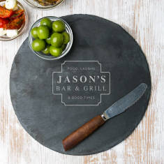 His Bar Personalised Slate Serving Board