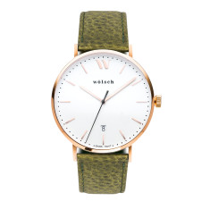 Versa 40 watch in Rose Gold with Olive Band