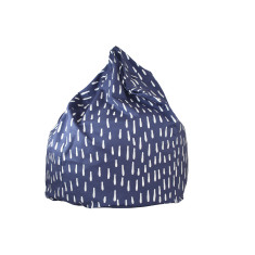 Indigo Raindrops Bean Bag Cover