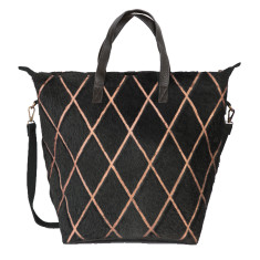 Luna Tote in Arlequin Black Gold