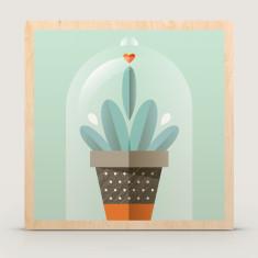Lone Ranger cactus wood block print