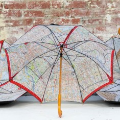 Iconic Melbourne directions map umbrella