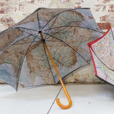 Iconic vintage-style Australia map umbrella