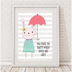 Umbrella bunny print