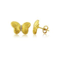 Gold Vermeil Butterfly Earrings
