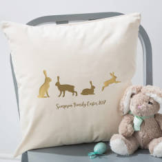 Personalised Family Easter Cushion Cover