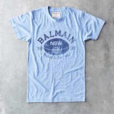 Balmain ball vintage t-shirt in blue