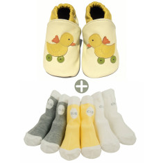 Baby shower shoes and socks gift set