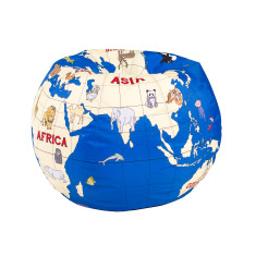 Woouf Bean Bag Cover - Globe Kids