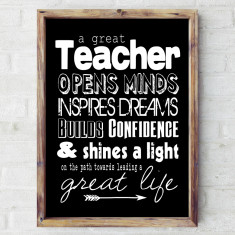 Great teacher print