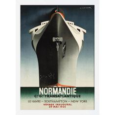 Normandie Ship 1935 Print