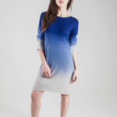 Cashmere Ombre shift dress