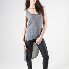 Isla cashmere high low top