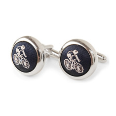 Cycling cufflinks in navy
