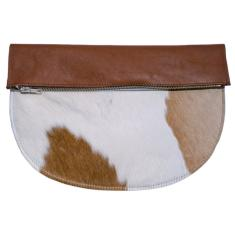 Rags to Richmond leather and hide clutch