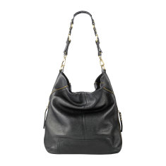 The lair leather bag in black