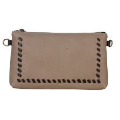 Zoe Beige Clutch Bag