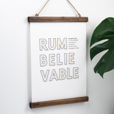 Funny Rum Definition Print