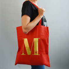 Christmas Alphabet Tote Bag